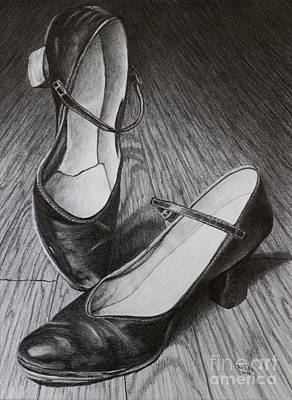 Sarah's Dancing Shoes Art Print by Chad Keith