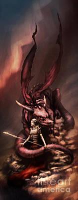 Sarah's Dragon Art Print by Ethan Harris