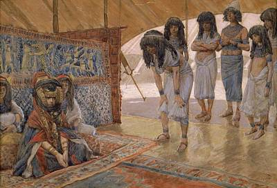 Caucasian Painting - Sarai Is Taken To Pharaoh S Palace By James Tissot  Circa 1896 1902 by James Tissot