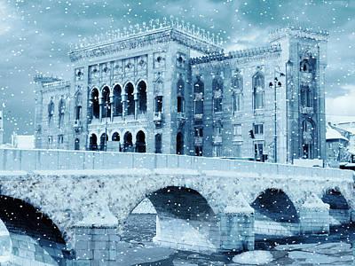 City Hall Digital Art - Sarajevo City Hall by Samir S