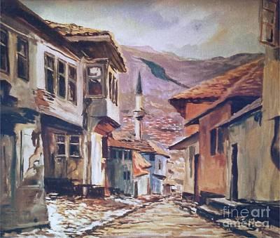 Painting - Sarajevo Old Town by Sinisa Saratlic