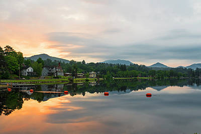 Photograph - Saranac Lake At Sunrise Ny by Toby McGuire