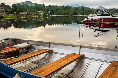 Photograph - Saranac Lake Rowboat Ny New York by Toby McGuire