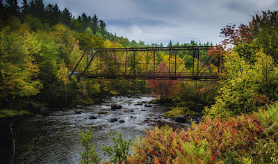 Photograph - Saranac River In Color by Dutch Ducharme