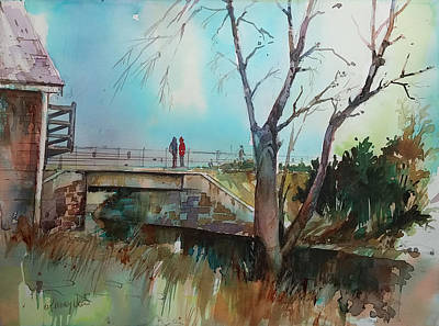 Painting - Sara's Viewi Of The Jones River by P Anthony Visco