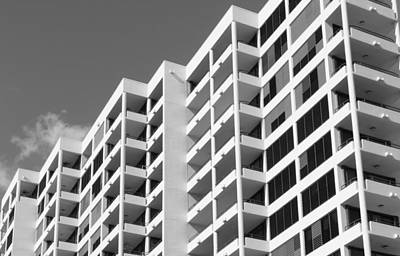 Photograph - Sarasota Architecture 2 - B/w by Richard Goldman