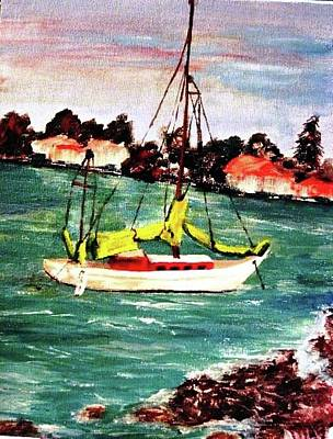 Painting - Sarasota Bay Sailboat by Angela Murray