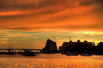 Photograph - Sarasota Bay Sunset #3 by Jonathan Sabin