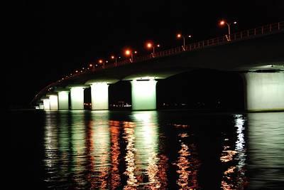 Sarasota Longboat Key Bridge Art Print by Amanda Vouglas