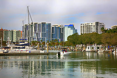 Photograph - Sarasota Marina Fl by Chris Smith