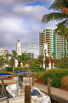 Photograph - Sarasota Marina Plaza Arch by Chris Smith