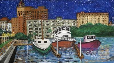 Dorm Room Art Painting - Sarasota Night by Robert Raymond