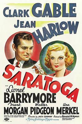 Saratoga 1937 Art Print by M G M