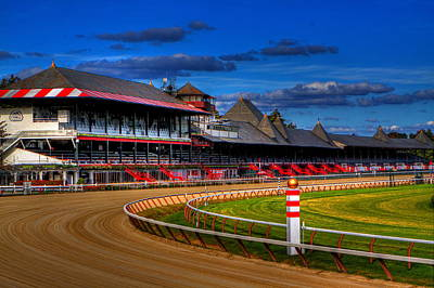 Race Horse Photograph - Saratoga Race Track by Don Nieman