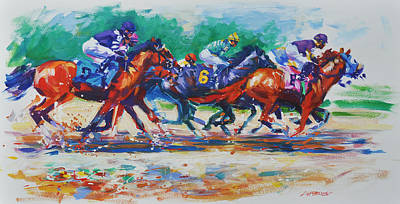 Saratoga Sprint Art Print by Lisa Palombo