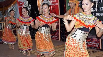 Sarawak Iban Cultural Dancers Original by Ali Mohamad