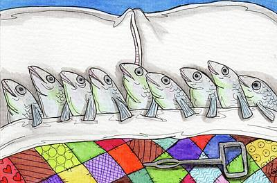 Painting - Sardines by Julie McDoniel