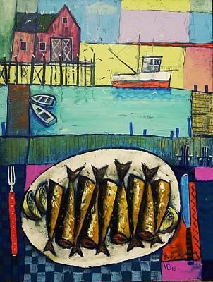Painting - Sardines by Mikhail Zarovny
