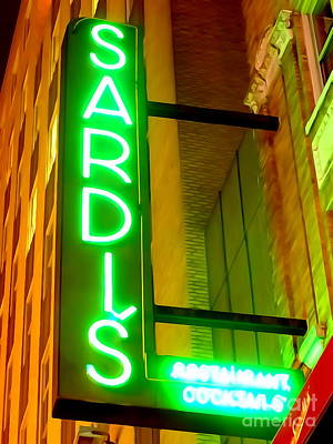 Photograph - Sardi's Sign by Ed Weidman