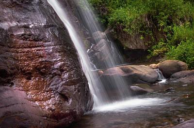 Photograph - Saree Ella Cascade. Sri Lanka by Jenny Rainbow