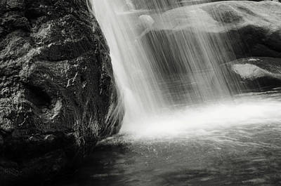 Photograph - Saree Ella Water Cascade. Black And White by Jenny Rainbow