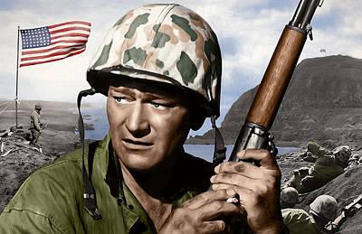 Icon Mixed Media - Sargent Stryker U S M C  Iwo Jima by Daniel Hagerman