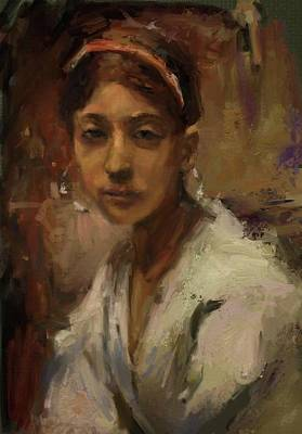 Digital Art - Sargent Study Number 1 Capri Girl by Brian Kardell