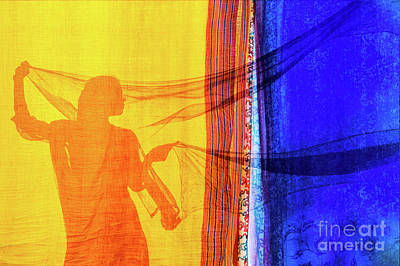 Shawl Photograph - Sari Girl by Tim Gainey