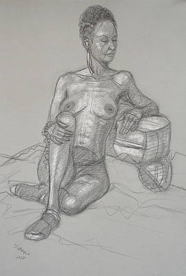 Drawing - Sariya Reclining 2 by Donelli  DiMaria