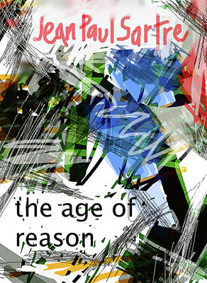 Famous Book Mixed Media - Sartre Poster Age Of Reason  by Paul Sutcliffe
