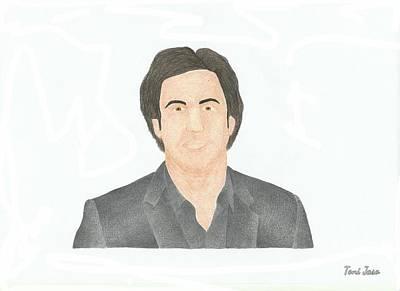 Borat Drawing - Sasha Baron Cohen by Toni Jaso
