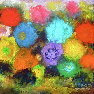 Painting - Sasha's Special Floral Garden. by Robert Birkenes