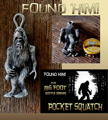 Sculpture - Sasquatch Bottle Opener by Tim  Joyner