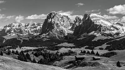 Photograph - Sasso Lungo And Sasso Piatto - Monochrome by Andreas Levi