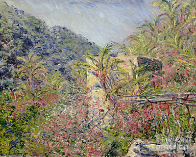 Sasso Valley Print by Claude Monet