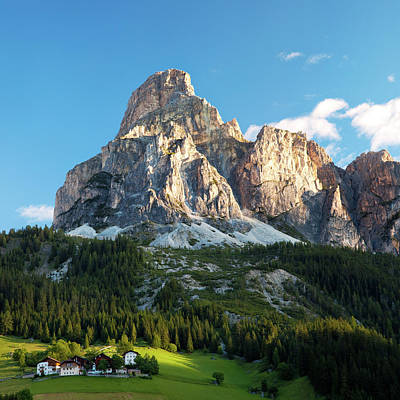 Sassongher At Sunrise, Alta Badia Art Print by Matteo Colombo