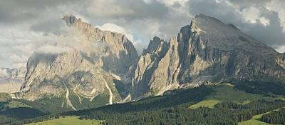 Photograph - Sassoungo And Langkofel Panorama by Stephen Taylor