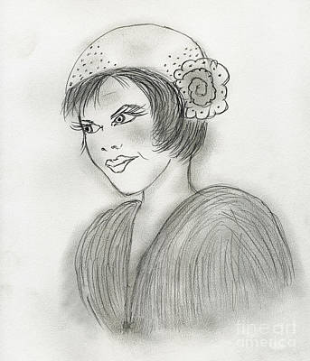 Drawing - Sassy Flapper by Sonya Chalmers