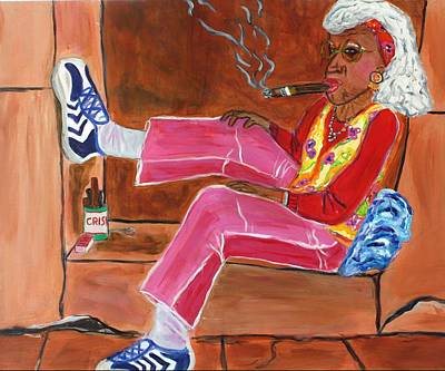 Sassy Old Lady Print by Victoria  Johns