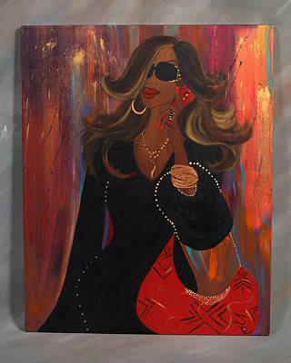 Abstract Purse Painting - Sassy by Simone Fennell