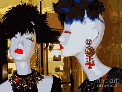 Gold Earrings Photograph - Sassy Sisters by Ed Weidman