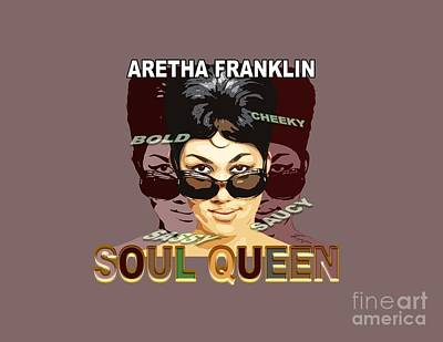 Painting - Sassy Soul Queen Aretha Franklin by Reggie Duffie