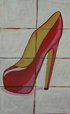 Painting - Sassy Red by John Pendarvis