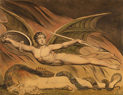 Christian Artwork Painting - Satan Exulting Over Eve by Mountain Dreams