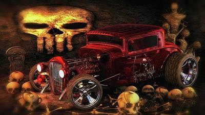 Digital Art - Satan Ride  by Louis Ferreira