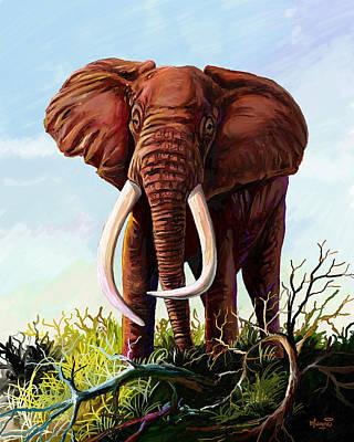 Painting - Satao II - The Elephant by Anthony Mwangi