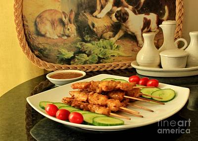 Photograph - Satay Chicken by Katy Mei