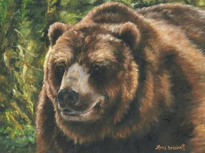 Grizzly Painting - Satchamo by Lori Brackett