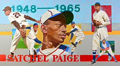 Satchel Paige Art Print by Cliff Spohn
