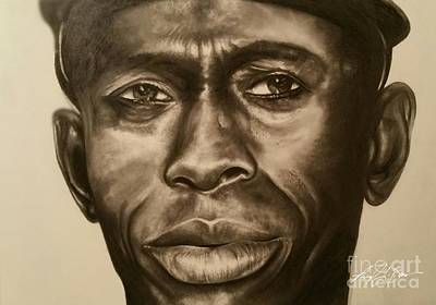 Satchel Paige Drawing - Satchel Paige In Pencil by Michael Borum